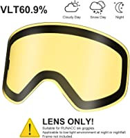 RUNACC Occhiali da Sci Occhiali da Snowboard su Occhiali con Lente antiappannante e Protezione UV400 al 100%, Rosso