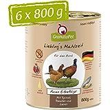 GranataPet Liebling's - Mangime umido per cani, senza cereali e senza zuccheri aggiunti, 6 x 800 g