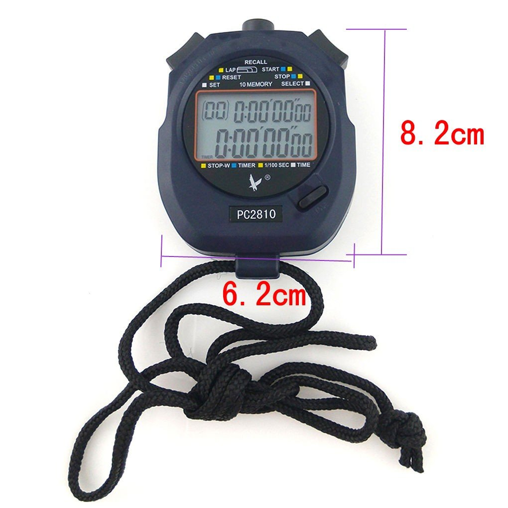 JZK Cronometro Digitale Professionale con Batteria e Cordino