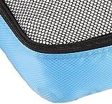 AmazonBasics Kleidertaschen-Set, 4-teilig, 2 mittelgroße und 2 große Kleidertaschen, Himmelblau - 5