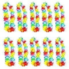 Idea Regalo - Gudotra 25pz Ghirlande Colorate Collana Hawaiane Fiore Seta per Festa a Tema Hawaiana Addio al Nubilato Compleanno Spiaggia