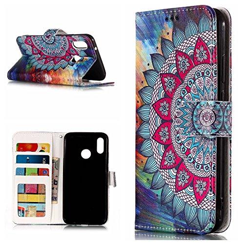 (Huawei P20 Lite Hülle Silikon/Huawei Nova 3e Handyhülle Nnopbeclik® Portefeuille/Ledertasche Ganzkörper-Schutzhülle Magnet Kartenhalter Flip Case Huawei P20 Lite Tasche Leder)