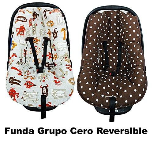 FUNDA GRUPO CERO UNIVERSAL - REVERSIBLE - MONSTRUOS OCRE