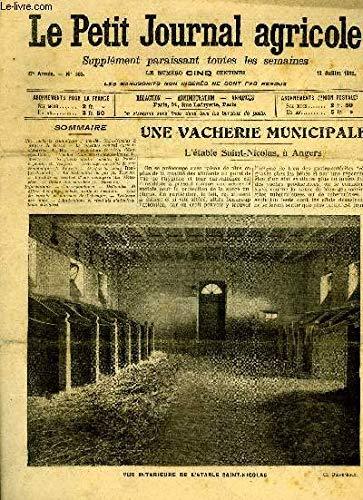 LE PETIT JOURNAL AGRICOLE N° 863 - Une vacherie municipale ; Vétable Saint par COLLECTIF
