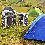 Ultrasport Campingschrank - Universal Faltschrank, 3 Fächer + Arbeitsfläche inkl. Aufbewahrungstasche -