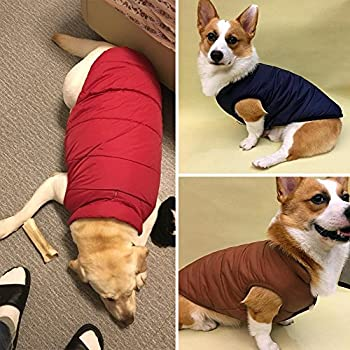 Kismaple Dog Cosy Fleece Jacket Puppy Winter Lined Coat Clothes Warm Padded Vest For Small Dog Clothing Red (Xs:9 Inches Length) 6