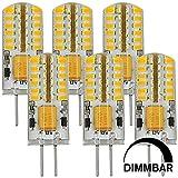 MENGS® 6 Stück Dimmbar G4 LED Lampe 3W DC 12V Warmweiß 3000K 48x3014 SMD