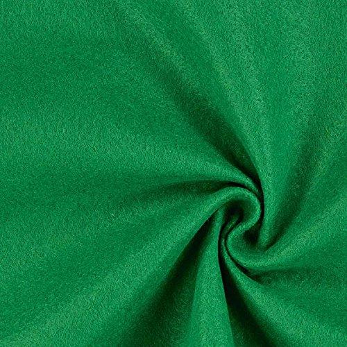 Fabulous Fabrics Filz 90cm / 1mm stark, 29 grasgrün - Meterware ab 0,5m - zum Nähen von Taschen, Accessoires und Kopfbedeckung