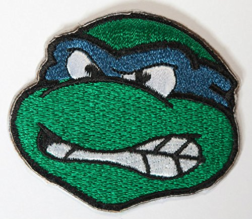 Leonardo Tmnt blau gesticktes Eisen auf Patch/Leo Teenage Mutant Ninja Turtles Badge Kostüm Aufnäher (Coole Kostüme Ninja)