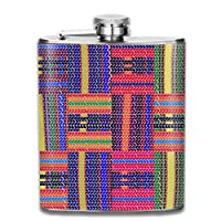 Bikofhd 7OZ Stainless Steel Flask, Personalized Colorful Stripes Pattern Liquor Flask, Flasks For Mens And Womens