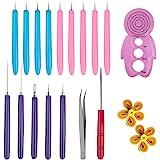 YuCool 16-teiliges Quilling-Werkzeug-Set, für handgefertigte Papierspiralen, Quilling-Stift mit Schlitz, für…