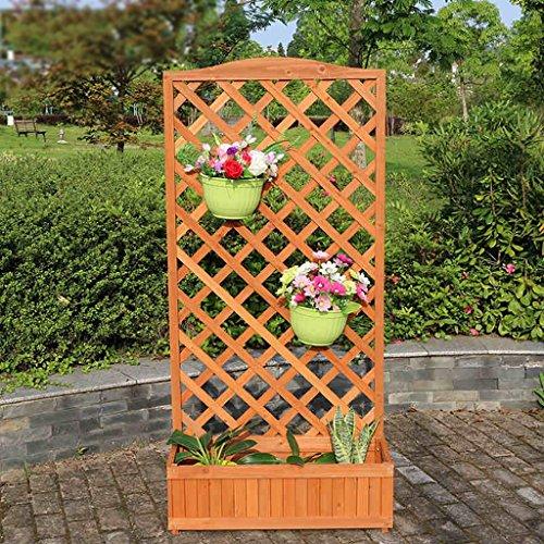 Blumentopf-Finish-Rack. Blumenregal, Carbonized Massivholz Blume Rack, Balkon mehrschichtige Bonsai Holz Blume Rack, Indoor Wohnzimmer Fleisch Pflanze Regal Pflanzen vergoldet Rack