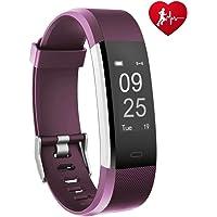 TOOBUR Schrittzähler Fitness Armband Uhr, IP67 Wasserdicht Fitness Tracker Smart Watch mit Herzfrequenz Schlafmonitor und Kalorienzähler, Aktivitätstracker Armbanduhr für Damen Herren