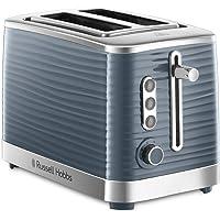 Russell Hobbs Toaster Grille Pain XL, Contrôle Brunissage, Décongéle, Réchauffe, Chauffe Viennoiserie - Gris 24373-56…