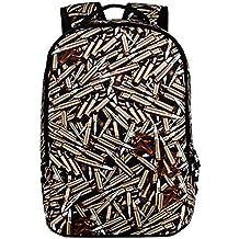 Unisex Satchel Mochila Mochila hombro bolso de escuela
