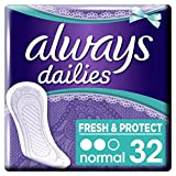 Always Dailies Fresh And Protect Normal Panty Liners 32 Pack