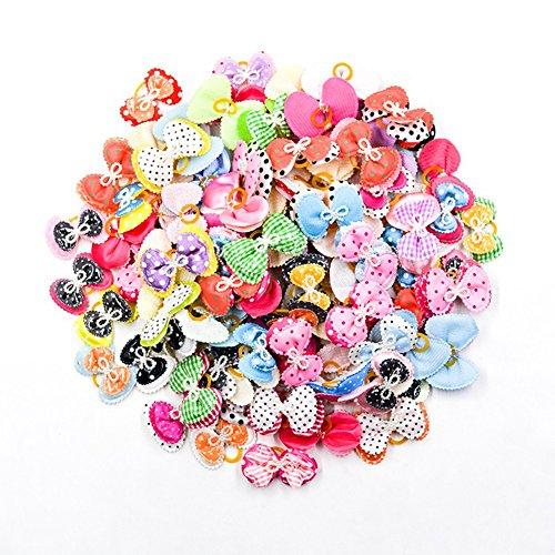 Artikelbild: Yunt Haarschleifen Haarschneider Hundeschmuck Fest Kostüm Hundehaar-Clips mit Gummiband für Haustier Welpen Hunde Katzen 20pcs 50pcs