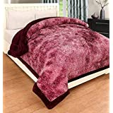 Blexos Warm Heavy Weight Double Bed Quilt Best For Heavy Winters, Extra-Soft Self Floral Design With Microfiber Filling Bright Color Full Size Heavy Quilt
