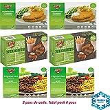 Fry's Family Foods Pack de 6: NUGGETS SABOR A POLLO, ESCALOPE EMPANADOS & CARNE PICADA VEGETARIANA CON GRAVY (2 de cada)