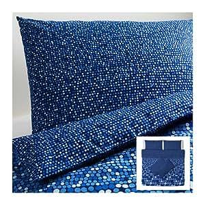IKEA SMORBOLL - Housse de couette et taies d'oreiller 4, bleu - 240x220 / 50x80 cm
