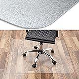 Office Marshal® transparente Bodenschutzmatte für Hartboden, rechteckig | TÜV - und Blauer Engel - zertifiziert | 90x110cm