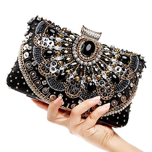 Flada Womens Kupplungen Taschen Pailletten und Kristall Strass Abend Handtaschen Geldbeutel # 3 #1