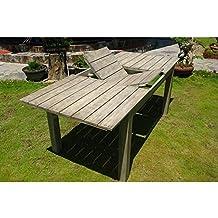 Tavolo Da Esterno Rotondo Allungabile.Amazon It Tavoli Allungabili Da Giardino