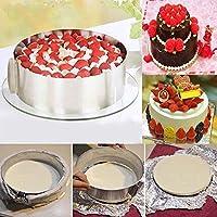 Bague de gâteau,Mytobang Rétractable Moule Cercle à Gâteau Rond en acier,cadre pâtisserie Ø de 16 cm à 30 cm avec une graduation intérieure,idéal pour créer et décorer des gâteaux et des pâtisseries ǀ en acier inoxydable
