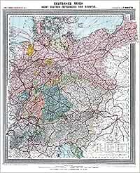 Historische Karte Deutsches Reich Deutschland Nebst Deutsch
