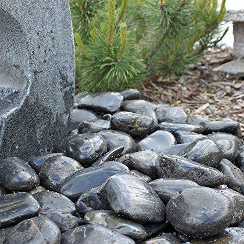 Ciottoli sassi neri blackstone pietre nere lustre per for Laghetto giardino ebay