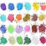 24x5g Mica Powder Pigments, Natural Color Pigmento Mica Polvo Maquillaje Tinte Set, Para Bombas de Baño Jabón Making Colorant Set