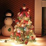 Künstlicher Weihnachtsbaum, outgeek Tannenbaum Christbaum 60cm(24'') grün Weihnachtsbaum klein mit Beleuchtung Multicolor LED und Weihnachtsschmuck (60 cm mit LED und ornaments)