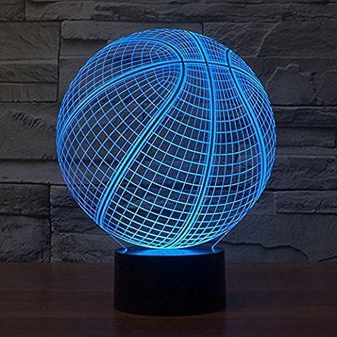 3D Led Illusion Tischlampe 7 Farben ändern Nachtlicht für Schlafzimmer
