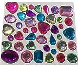 129 pcs diferentes piedras de purpurina de colores para manualidades pegatinas autoadhesivas Gltzersteine semipreciosas piedras de estrás mezcla Corazón gota redonda cuadrada para arreglar de CRYSTAL KING