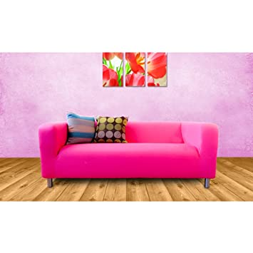Shopisfy Ersatzbezug Für Ikea Klippan Sofa 2-sitzer - Rosa: Amazon ...