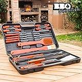 Valigetta Utensili Grigliata BBQ Master Tools (18 pezzi) Acciaio Inox Barbecue Cucina