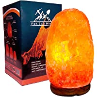 2-4 KG Himalayan Salt Rock Crystal Lamp Pink Light Healthy 100% Authentic Natural Quality with UK Switch Cable and Bulb…