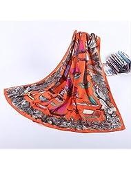 ZLL Protección contra el sol señora impreso bufandas de seda, sombra de playa de seda, mantón vintage , 1