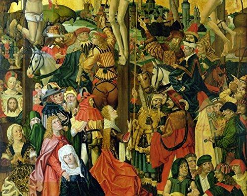 "Alu-Dibond-Bild 30 x 20 cm: ""The Crucifixion, c.1500 (detail of 148971) (oil on panel)"", Bild auf Alu-Dibond"