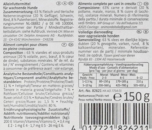 Animonda vom Feinsten Junior 82621 Geflügel+Putenherzen 22 x 150 g Schale – Hundefutter - 4