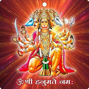 Buy prabhu samaksh panchmukhi hanuman acrylic wall frame for south south west main door vastu - Panchmukhi hanuman image ...
