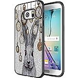 DOO UC (TM) Galaxy S7Edge Schutzhülle, Laser Technologie für Schutzhülle für Samsung Galaxy S7Edge Schwarz Vintage Azteca Wolf, DOU (106)