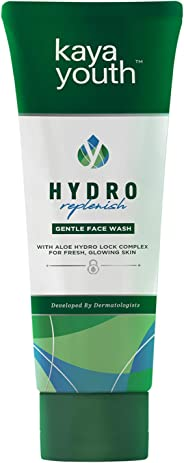 Kaya Youth Hydro Replenish Gentle Face Wash, With Aloe Vera and Energizing Beads, Dirt Removal, Suitable For Oily Skin, Fres