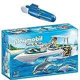 PLAYMOBIL® Family Fun 2er Set 6981 7350 Tauchausflug mit Sportboot + Unterwassermotor