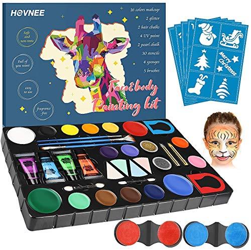 HOVNEE Pintura cara Facial Niños Kit Pintura,maquillaje