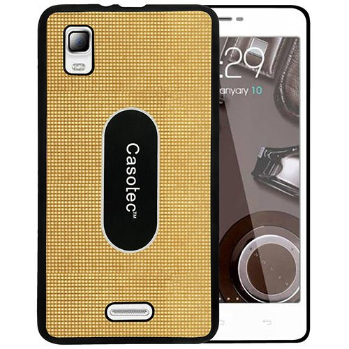 Casotec Metal Back TPU Back Case Cover for Micromax Canvas Doodle 3 A102 - Gold  available at amazon for Rs.149