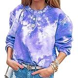 Yeirui Womens Tops Long Sleeve O Neck Loose Pullover Sweatshirts Blouse Shirts