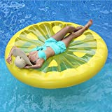 AJOG Amarillo Inflable Limón Rebanada Flotador Piscina Juguete Deportes Acuáticos Inflable Flotante Balsa Ocio Flotante Cama PVC 160 * 160Cm