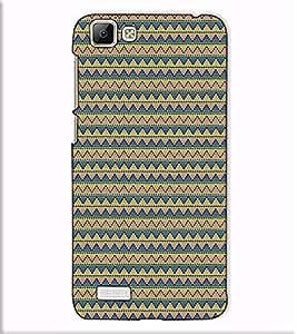 Fuson Designer Back Case Cover for Vivo V1 (Blue designer pattern theme)