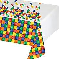 Creative Converting Block Party Geburtstag Tischdecke aus Kunststoff, 137,2x 259,1cm